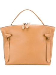Jil Sander Small 'Hill' Tote Nude And Neutrals