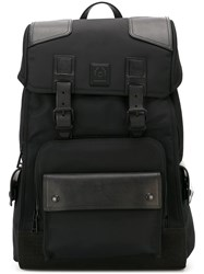 Belstaff Buckle Strap Backpack Black