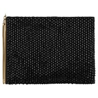Reiss Cindy Embellished Zip Pouch Black