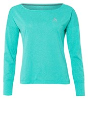 Odlo Tebe Long Sleeved Top Cockatoo Melange Mottled Turquoise