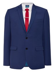 Burton Essential Slim Fit Suit Jacket Blue