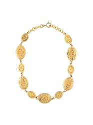 Chanel Vintage Coin Necklace Metallic