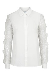Shirt With 3D Flower Lace By Jovonna White