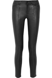 Vince Stretch Leather Skinny Pants Black