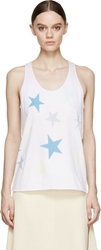 Stella Mccartney Pure White Star Print Tank Top
