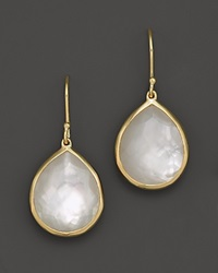 Ippolita 18K Gold Rock Candy Teardrop Earrings In Mother Of Pearl Doublet