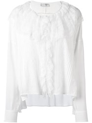 Faith Connexion Oversized Lace Blouse White