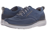 Clarks Charton Mix Navy Leather Men's Lace Up Casual Shoes Blue
