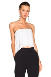 Nicholas Front Drape Bustier Top In White
