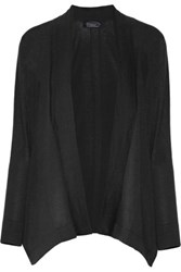 Magaschoni Draped Cotton Cardigan Black
