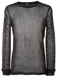 Balmain Sheer Sweater Black