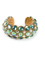 Claire Deve Vintage Crystal Embellished Cuff Metallic
