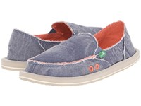 Sanuk Donna Distressed Slate Blue Women's Slip On Shoes
