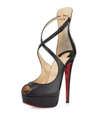 Christian Louboutin Marlenalta Leather 150Mm Red Sole Pump Black