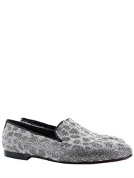 Kardinale Leo Pattern Crystal Embellished Loafers