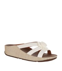 Fitflop Rosita Flower Slide Sandal Female White