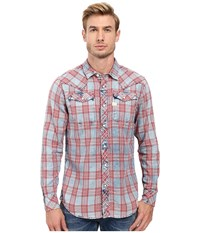 G Star Tacoma Long Sleeve Shirt In Indigo Sodo Flannel Check Indigo Dark Baron Check Men's Long Sleeve Button Up Multi