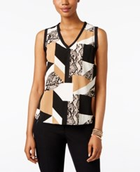 Inc International Concepts Petite Sleeveless Printed Top Only At Macy's Patchd Snake