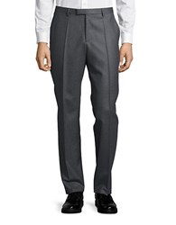 Hugo Straight Leg Wool Pants Grey