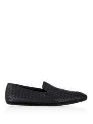 Bottega Veneta Intrecciato Leather Outdoor Slippers