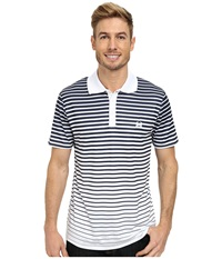 Cinch Modern Fit Polo Stripe White Men's Short Sleeve Pullover