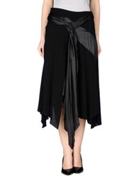X's Milano 3 4 Length Skirts Black