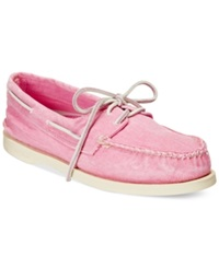Sperry Women's Authentic Original Washed Canvas Boat Shoes Women's Shoes