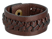 Frye Jenny Snap Cuff Dark Brown Soft Vintage Leather Bracelet