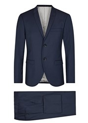 Tiger Of Sweden Tonic Navy Wool Blend Suit Blue