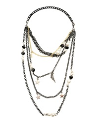 Moschino Cheap And Chic Moschino Cheapandchic Necklaces Black