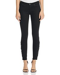 Blank Nyc Blanknyc Lace Up Skinny Jeans In Black 100 Bloomingdale's Exclusive Follow Me