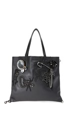 Marc Jacobs Wingman Badges Shopper Tote Black