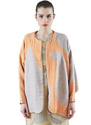 The Autonomous Collections Oversized Patchwork Cardigan Orange