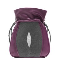 Khirma Eliazov Mignonne Pouch Burgundy Leather