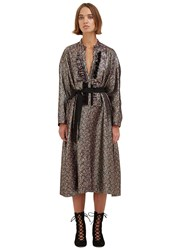 Maison Rabih Kayrouz Oversized Metallic Floral Brocade Dress Black
