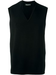 Neil Barrett V Neck Tank Top Black