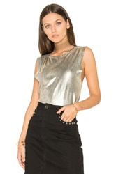 Weslin Grant The Brix Foil Muscle Tank Metallic Gold
