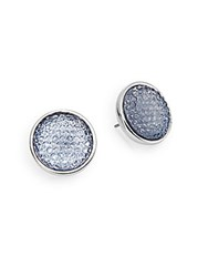 Carol Dauplaise Pearls With Fave Button Bezel Earrings Aqua