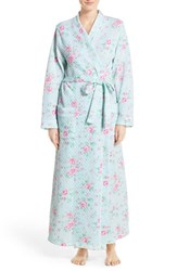 Women's Carole Hochman Designs Floral Robe Cottage Blue