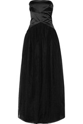 Brunello Cucinelli Silk And Tulle Gown Black