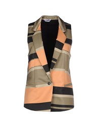 Biancoghiaccio Suits And Jackets Blazers Women Military Green