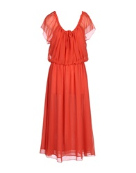 Mina Uk 3 4 Length Dresses Red