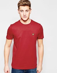 Lyle And Scott T Shirt With Eagle Logo In Red Ruby