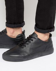 Zign Leather Trainers Black