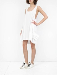 Mm6 Basic Jersey Long Tank White