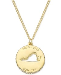 Kate Spade New York State Of Mind Gold Tone State Cutout Pendant Necklace Virginia