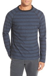 Men's Billy Reid 'Indian' Trim Fit Stripe Crewneck Sweatshirt Blue Black