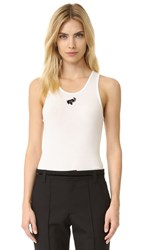 Marc Jacobs Ribbed Tank White Elephant
