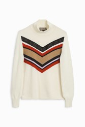 Giambattista Valli Women S Chevron Knit Boutique1 White