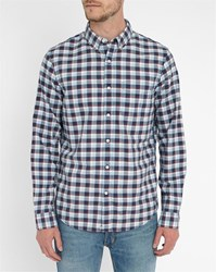Denim And Supply Ralph Lauren Sky Blue And Blue Checked Oxford Shirt